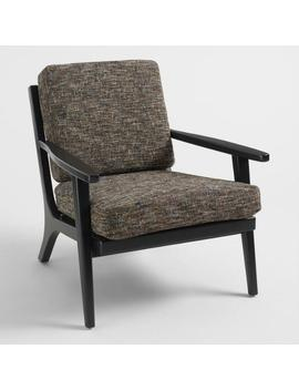Black Tweed Xander Armchair by World Market