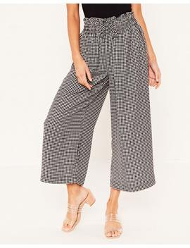 Gingham Wide Leg Pant by Glassons