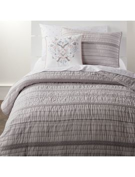 Pattern Play Grey Bedding by Crate&Barrel