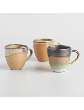 Organic Stoneware Mugs Set Of 3 by World Market
