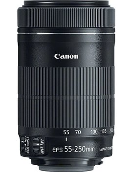 Ef S 55 250mm F/4 5.6 Is Stm Telephoto Zoom Lens For Select Canon Cameras   Black by Canon