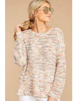 Freshly Picked Orange Multi Knit Sweater by Lumiere
