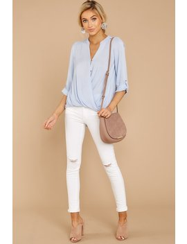 Stay For Me Pastel Blue Top by Be Cool