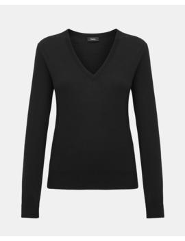 Regal Wool V Neck Pullover by Theory
