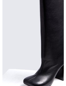 Knee High Leather Boot by Mm6 Maison Margiela