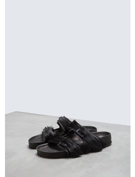 Women's Fur Arizona Sandal by Rick Owens