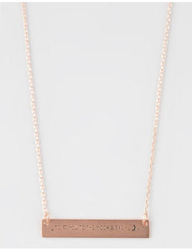 Full Tilt To The Moon And Back Bar Necklace by Full Tilt