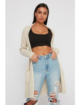 Soft Brushed Long Sleeve Longline Cardigan by Urban Planet
