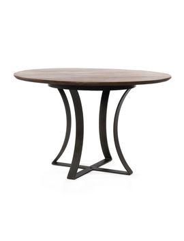 """Gage 48"""" Brown Wood Top Dining Table by Crate&Barrel"""