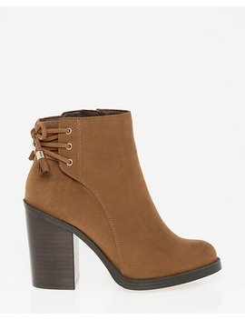 Suede Like Almond Toe Ankle Boot by Le Chateau