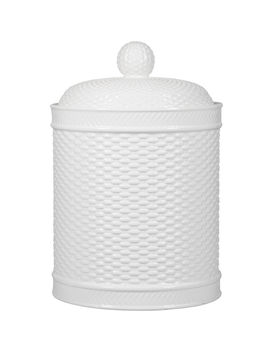 White Basket Weave Canister by At Home