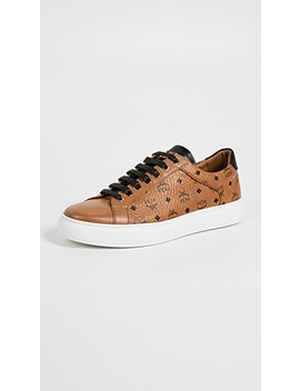 Logo Visetos Low Top Sneakers by Mcm