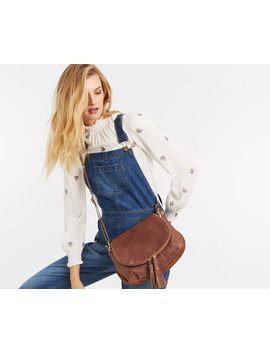 Leather Cross Body Bag by Oasis