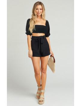 Hadley Shorts ~ Black Linen by Show Me Your Mu Mu
