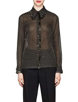 Metallic Checked Blouse by Dries Van Noten