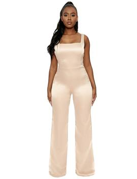 The Satin Snack Jumpsuit by Naked Wardrobe