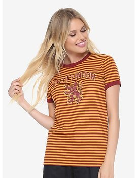 Harry Potter Gryffindor Striped Womens Ringer Tee   Box Lunch Exclusive by Box Lunch