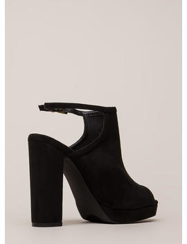 High Class Chunky Peep Toe Platforms by Go Jane