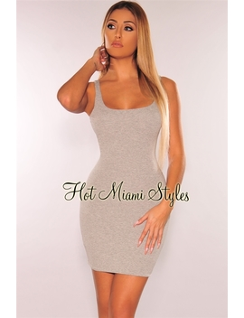 Heather Gray Tank Dress by Hot Miami Style