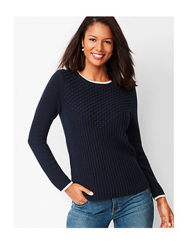 Textured Cotton Sweater by Talbots