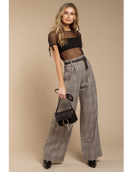 Capulet Lavande Multi Plaid Pant by Tobi