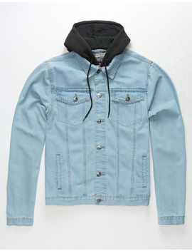 Brooklyn Cloth Hooded Trucker Mens Denim Jacket by Brooklyn Cloth