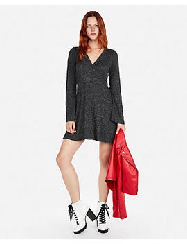 Petite Cozy Plush Jersey Fit And Flare Dress by Express