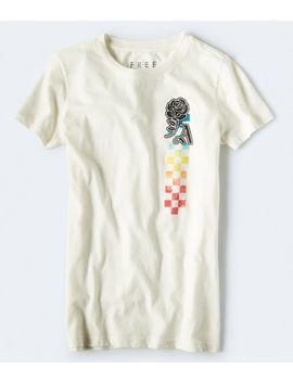 Free State Ombre Checkers Graphic Tee by Aeropostale