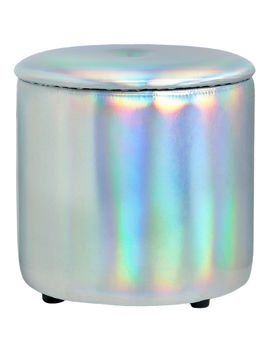Iridescent Storage Ottoman by At Home