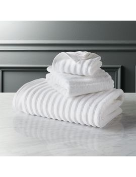Channel White Cotton Bath Towels by Crate&Barrel