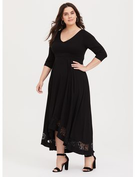 Black Challis Hi Lo Maxi Dress by Torrid