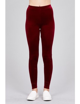 Ladies Fashion Velvet Leggings by 599 Fashion