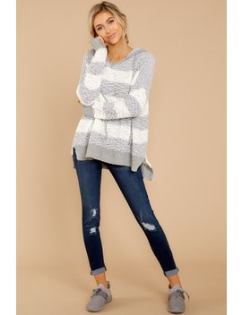 Make It Cozy Grey Stripe Wubby Pullover by Miracle