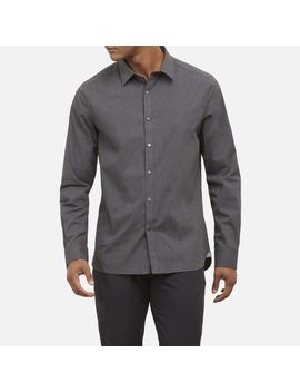 Heather Poplin Shirt With Snap Buttons by Kenneth Cole New York