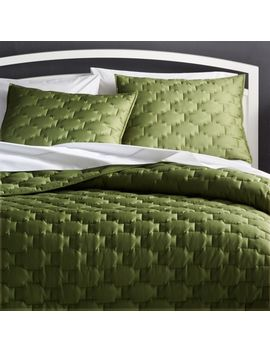 Palazzo Green Quilts And Pillow Shams by Crate&Barrel