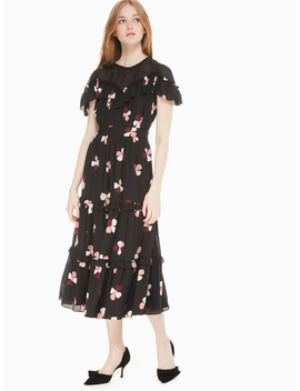 Dusk Buds Midi Dress by Kate Spade