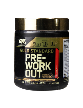 Optimum Nutrition Gold Standard Pre Workout Powder Fruit Punch 330g by Optimum Nutrition Gold Standard Pre Workout Powder Fruit Punch 330g