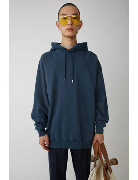 Hooded Sweatshirt Mineral Blue by Acne Studios