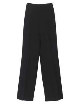 Black Best Ever High Waisted Trouser Pants by Haider Ackermann