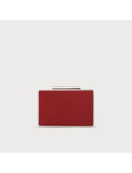Nina Red Suede Clutch by L.K.Bennett