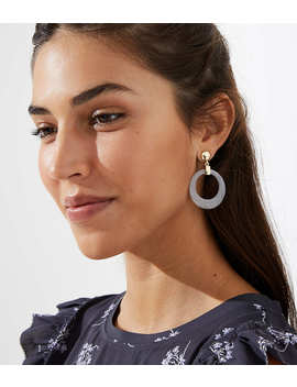Marbleized Ring Drop Earrings by Loft