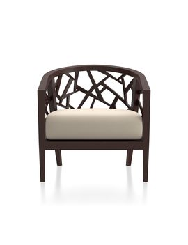 Ankara Truffle Frame Chair With Fabric  Cushion by Crate&Barrel