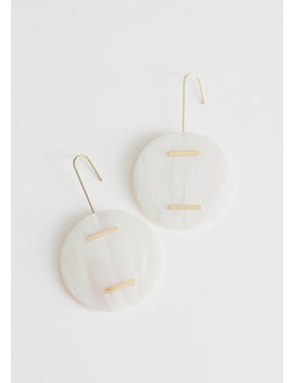 Circle Seashell Hanging Earrings by & Other Stories