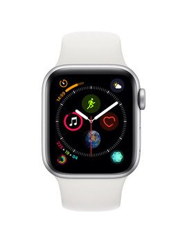 Apple Watch Series 4 (Gps) 40mm Silver Aluminium Case With White Sport Band by Apple