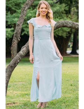 Grace Flutter Sleeve Bridesmaid Dress by Francesca's