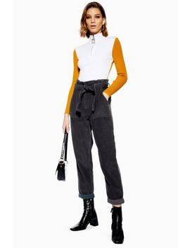Corduroy Paperbag Trousers by Topshop