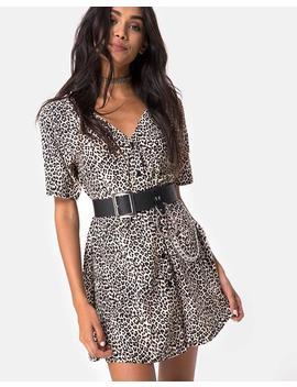 Crosena Dress In Rar Leopard By Motel by Motel