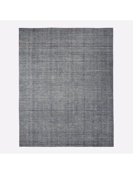 Terra Stripes Rug, Slate, 9'x12' by West Elm
