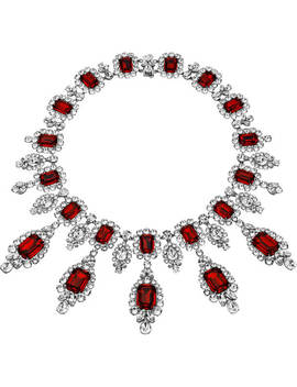 Anna Dello Russo Necklace, Red, Palladium Plating by Swarovski