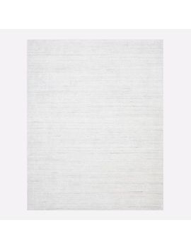 Shale Striations Rug, Light Gray, 9'x12' by West Elm